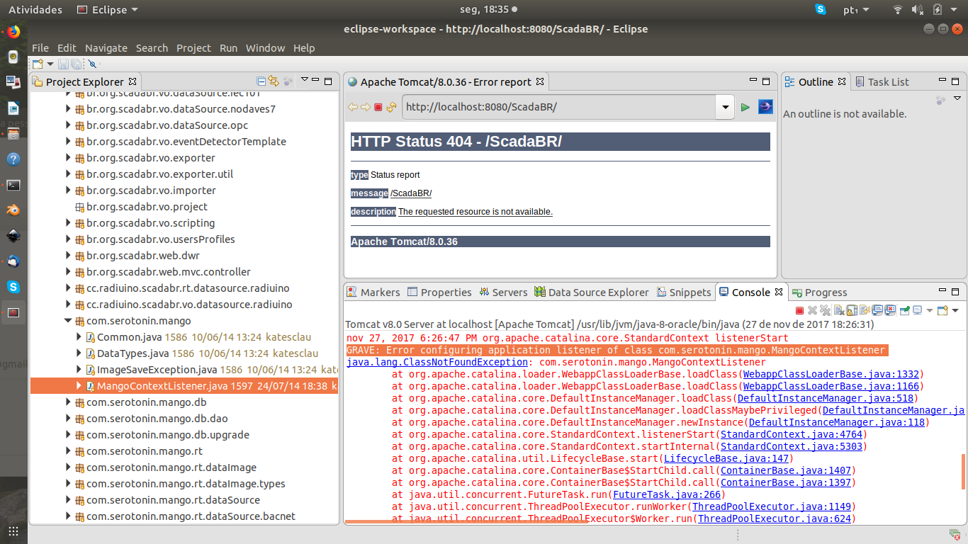 Dúvidas acerca de compilação do ScadaBR 1 1 Java8 no ubuntu